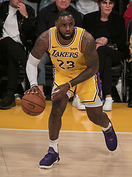 October 20, 2018 - Los Angeles, California, U.S - LeBron James #23 of the Los Angeles Lakers during their NBA game with the Houston Rockets on Saturday October 20, 2018 at the Staples Center in Los Angeles, California. (Credit Image: © Prensa Internacional via ZUMA Wire)
