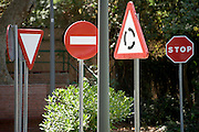 confusing set of traffic street signs