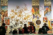 Nederland, Nijmegen, 23-11-2018 Tentoonstelling in museum het Valkhof over het leven van Maria van Gelre. Schilderkunst in miniaturen in boeken uit de middeleeuwen . Foto: Flip Franssen
