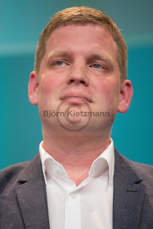 Berlin, Germany - 07.05.2015 <br /> <br /> Sebastian Esser, founder and publisher of Krautreporter. Day three of the leading European net-conference re:publica 15 (#rp15) at Station Berlin.<br /> <br /> Sebastian Esser, Gruender und Herausgeber von Krautreporter. Tag drei der fuehrenden europaeische Netz-Konferenz re:publica 15 (#rp15) in der Station Berlin.<br /> <br /> Photo: Bjoern Kietzmann