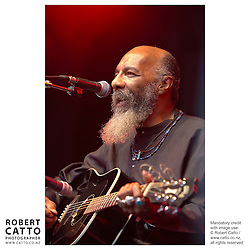 American legend Richie Havens performs at WOMAD music festival in New Plymouth, Taranaki New Zealand.