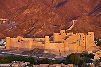 Sultanat d'Oman, gouvernorat de Ad-Dakhiliyah, le fort de Bahla, classé au Patrimoine Mondial de l'UNESCO, forteresse au pied du djebel Akhdar (ou Montagne Verte) au coeur des monts Hajar // Sultanate of Oman, Ad-Dakhiliyah Region, Bahla Fort, UNESCO World Heritage Site