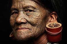 Chin tribe in Chin State in Burma - 30 July 2018