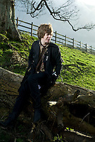 Photo ©2008 Tom Wagner,  ©Tom Wagner 2008, all moral rights asserted..Portrait of Fionn Regan, up and coming Irish singer/songwriter, photographed near Bath, England, while working on his new album. He lives in Dublin..No usage allowed without written agreement with Tom Wagner, copyright holder and creator.