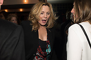 KIM CATTRALL;  , Spectator Life - 3rd birthday party. Belgraves Hotel, 20 Chesham Place, London, SW1X 8HQ, 31 March 2015