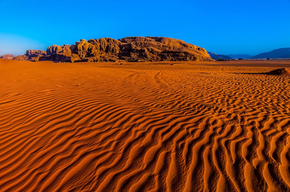 Arabian Desert at Wadi Rum, Jordan.