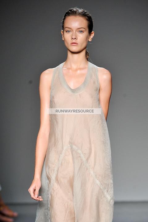 Jac walks the runway wearing Calvin Klein Spring 2010 collection during Mercedes-Benz fashion week on September 17, 2009.