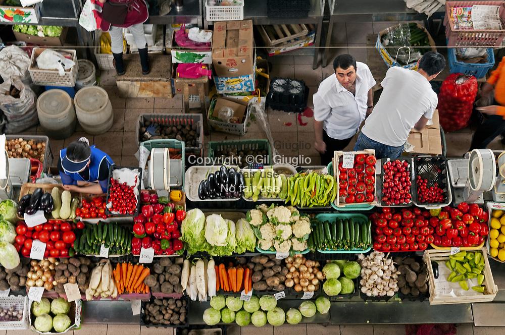 Russie, Sibérie de l'Est, Oblast d'Irkoutsk, ville d'Irkoutsk, grand marché du centre ville // Russia, East Siberia, Oblast of Irkutsk, city of Irkutsk, country market in downtown