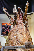 "Exploding head graboid puppet from the 1990 film ""Tremors"" starring Kevin Bacon. Fans of movies and television shouldn't miss the Museum of Western Film History, 701 S. Main Street, Lone Pine, California, 93545, USA. (Formerly called the Beverly and Jim Rogers Museum of Lone Pine Film History.) Web site: www.lonepinefilmhistorymuseum.org"