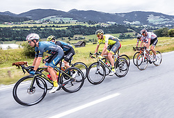 11.07.2019, Kitzbühel, AUT, Ö-Tour, Österreich Radrundfahrt, 5. Etappe, von Bruck an der Glocknerstraße nach Kitzbühel (161,9 km), im Bild Spitzengruppe, v.l.: Andi Bajc (Team Felbermayr Simplon Wels, SLO), Michal Podlaski (Wibatech Merx, POL), Tom Wirtgen (Wallonie Bruxelles, LUX), Mario Gamper (Tirol KTM Cycling Team, AUT), Brice Feillu (Arkea Samsic, FRA) // Spitzengruppe, v.l.: Andi Bajc (Team Felbermayr Simplon Wels, SLO), Michal Podlaski (Wibatech Merx, POL), Tom Wirtgen (Wallonie Bruxelles, LUX), Mario Gamper (Tirol KTM Cycling Team, AUT), Brice Feillu (Arkea Samsic, FRA) during 5th stage from Bruck an der Glocknerstraße to Kitzbühel (161,9 km) of the 2019 Tour of Austria. Kitzbühel, Austria on 2019/07/11. EXPA Pictures © 2019, PhotoCredit: EXPA/ JFK