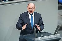 21 MAR 2019, BERLIN/GERMANY:<br /> Martin Schulz, MdB, SPD, haelt eine Rede, Bundestagsdebatte zur Regierungserklaerung der Bundeskanzlerin zum Europaeischen Rat, Plenum, Deutscher Bundestag<br /> IMAGE: 20190321-01-096