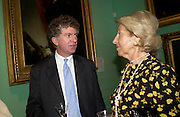 Tony's Blair's chief of staff Jonathan Powell and Hella Pick.  Celebration of Lord Weidenfeld's 60 Years in Publishing hosted by Orion. the Weldon Galleries. National Portrait Gallery. London. 29 June 2005. ONE TIME USE ONLY - DO NOT ARCHIVE  © Copyright Photograph by Dafydd Jones 66 Stockwell Park Rd. London SW9 0DA Tel 020 7733 0108 www.dafjones.com