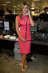 © Licensed to London News Pictures. 11/09/2017. ELIZABETH HURLEY takes part in the on the annual BGC Partners Charity Day in commemoration of its 658 friends and colleagues and 61 Eurobroker employees lost in the World Trade Center attacks on 9/11. PIcture Credit: Tang/LNP