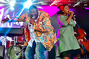 MANCHESTER, TN - JUNE 09: Michael Trotter (L) and Tanya Trotter of The War & Treaty perform onstage at This Tent during day 3 of the 2018 Bonnaroo Arts And Music Festival on June 9, 2018 in Manchester, Tennessee.
