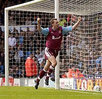 Manchester City v West Ham United, FA Barclaycard Premiership, Maine Road, Manchester. 27/04/2003.<br />West Ham's Don Hutchison celebrates.<br /> Photo: Jed Wee, Digitalsport