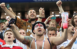 MOSCOW, July 11, 2018  England's fans encourage their players after the 2018 FIFA World Cup semi-final match between England and Croatia in Moscow, Russia, July 11, 2018. Croatia won 2-1 and advanced to the final. (Credit Image: © Yang Lei/Xinhua via ZUMA Wire)