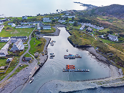 Small harbour on Easdale Island ,one of the slate islands, Argyll and Bute, Scotland, UK