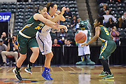 April 4, 2016; Indianapolis, Ind.; Sierra Afoa steals the ball in the NCAA Division II Women's Basketball National Championship game at Bankers Life Fieldhouse between UAA and Lubbock Christian. The Seawolves lost to the Lady Chaps 78-73.