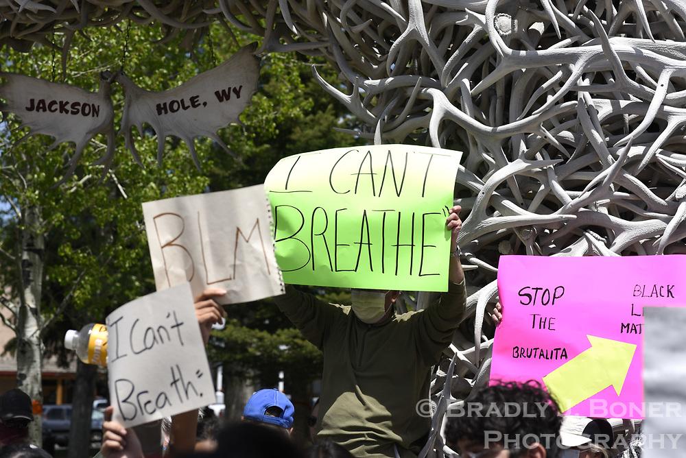Black Lives Matter protest of the death of George Floyd.