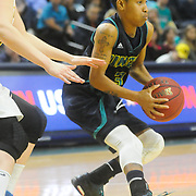 UNCW's Kelva Atkins looks to pass against Drexel Sunday February 1, 2015 at Trask Coliseum on the campus of UNCW. (Jason A. Frizzelle)