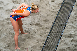 Pleun Ypma NED in action during the third day of the beach volleyball event King of the Court at Jaarbeursplein on September 11, 2020 in Utrecht.