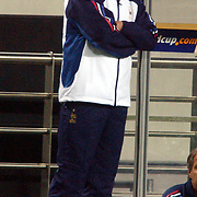 France's coach Bruno Lemerre cannot believe his eyes as his team crash to defeat in the opening game