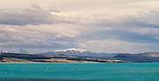 Panoramic view of Lake Pukaki, Peter's Lookout, Otago, New Zealand