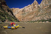 Rafters float the Green River (below the Yampa River confluence) in Dinosaur National Monument, Colorado.