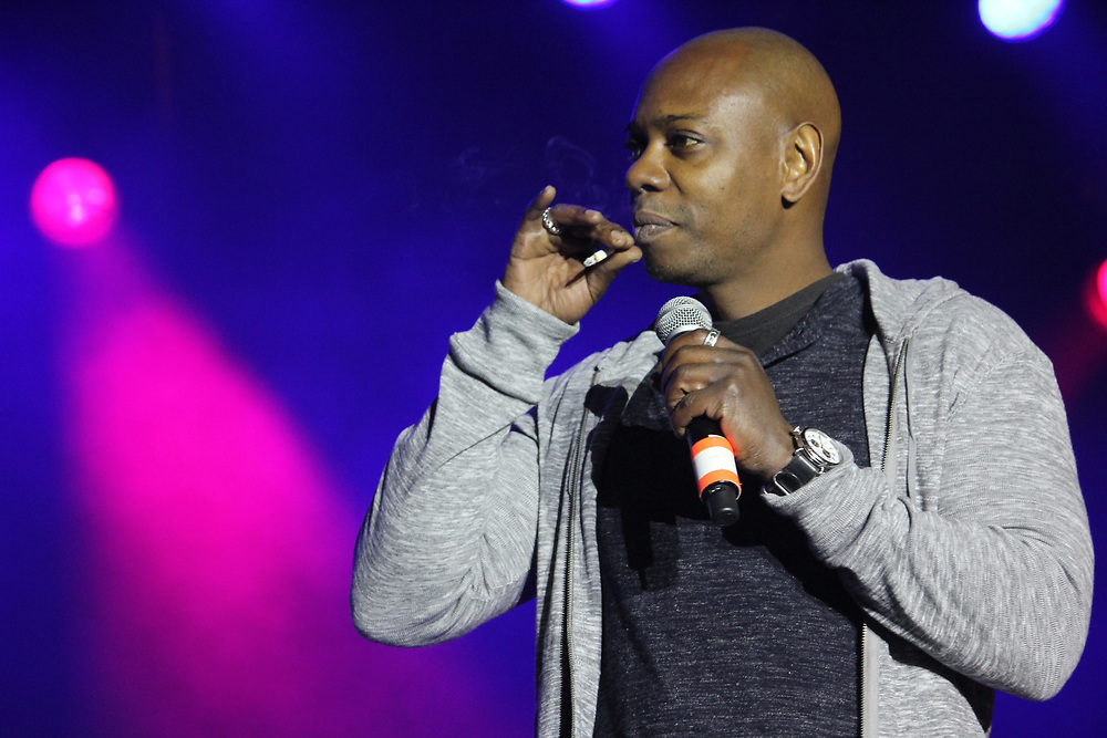 Dave Chappelle performing at Common's AAHH! Fest in Chicago, IL on September 21, 2014.