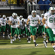 Marshall player enter the field during an NCAA football game between the Marshall Thundering Herd and the Central Florida Knights at Bright House Networks Stadium on Saturday, October 8, 2011 in Orlando, Florida. (Photo/Alex Menendez)