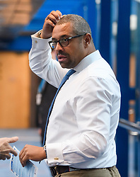 © Licensed to London News Pictures. 01/10/2018. Birmingham, UK. Conservative MP JAMES CLEVERLY attends day two of the 2018 Conservative Party autumn conference at the ICC in Birmingham. This years event is focused heavily on Brexit and negotiations with the EU over the UK's exit form the European Union. Photo credit: Ben Cawthra/LNP