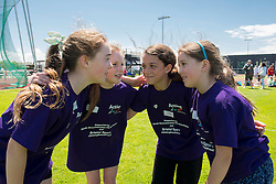 A team huddle before their team take part during the Bristol Sport Youth Festival - Photo mandatory by-line: Dougie Allward/JMP - Mobile: 07966 386802 - 06/06/2015 - SPORT - Multi-Sport - Bristol - SGS Wise Campus - Bristol Sport Festival Of Youth Sport - Festival Of Youth