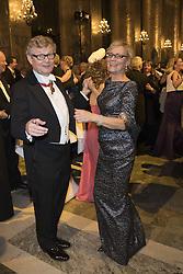 Jacob Wallenberg, Annika Levin <br /> <br />  <br /> <br />  beim Nobelbankett 2016 im Rathaus in Stockholm / 101216 <br /> <br /> <br /> <br /> ***The Nobel banquet, Stockholm City Hall, December 10th, 2016***