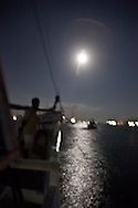 Indonesia, SanurBoat at night in a port