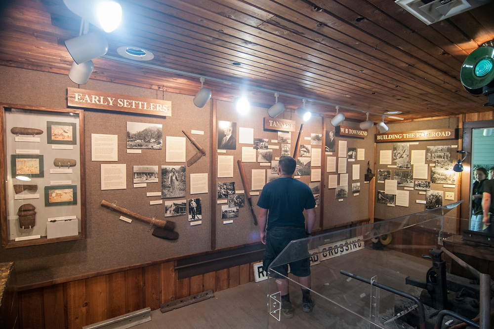 Inside the main building at the Little River Railroad and Lumber Company Museum in Townsend, Tennessee on Tuesday, July 11, 2017. Copyright 2017 Jason Barnette