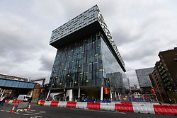 © Licensed to London News Pictures. 09/03/2020. London, UK. Transport For London's Palestra House Headquarters in Blackfriars. Part of the Building was deep cleaned last night after a staff member tested positive for coronavirus. Photo credit: George Cracknell Wright/LNP