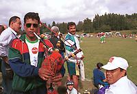 Musikant. Gaza Girls - Øvrevoll 0-9, Klasse X, Pulje 51. Norway Cup 2000: Ekebergsletta, 2. august 2000. (Foto: Peter Tubaas/Fortuna Media)