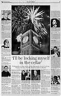 The Independent,<br /> Fireworks Over Big Ben, London, Britain - 24th December 1999