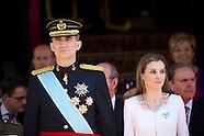 060914 Inauguration Of King Felipe VI and Queen Letizia and Princess Leonor and Princess Sofia