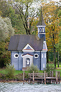 Herrenchiemsee Chapel on Herren Insel island in Chiemsee Lake in Baden-Wurttenberg, Bavaria, Germany