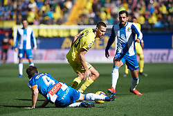 February 3, 2019 - Villarreal, Castellon, Spain - Alfonso Pedraza of Villarreal and Victor Sanchez of RCD Espanyol during the La Liga match between Villarreal and Espanyol at Estadio de la Ceramica on February 3, 2019 in Vila-real, Spain. (Credit Image: © Maria Jose Segovia/NurPhoto via ZUMA Press)