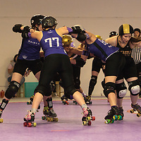 Rainy City Roller Derby All Stars take on Newcastle Roller Derby Canny Belters at The Thunderdome, King Street, Oldham, 2016-09-24