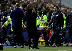 Biram Kayal of Brighton & Hove Albion is stretchered off after getting injured - Mandatory by-line: Robbie Stephenson/JMP - 13/05/2016 - FOOTBALL - Hillsborough - Sheffield, England - Sheffield Wednesday v Brighton and Hove Albion - Sky Bet Championship Play-off Semi Final first leg