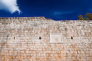 Section of the Great Wall above the city center, Ston, Dalmatian Coast, Croatia