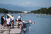 Plovdiv BULGARIA. 2017 FISA. Rowing World U23 Championships. <br /> <br /> Wednesday. AM, general Views, Course, Boat Area<br /> 09:33:12  Wednesday  19.07.17   <br /> <br /> [Mandatory Credit. Peter SPURRIER/Intersport Images].