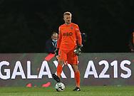 Rio Ave goalkeeper Kieszek during the Europa League match between Rio Ave FC and AC Milan at Estadio dos Arcos, Vila do Conde, Portugal on 1 October 2020.