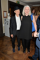DAVID REMFRY and CAROLINE HANSBERRY at a the Fortnum's X Frank private view - an instore exhibition of over 60 works from Frank Cohen's collection at Fortnum & Mason, 181 Piccadilly, London on 12th September 2016.