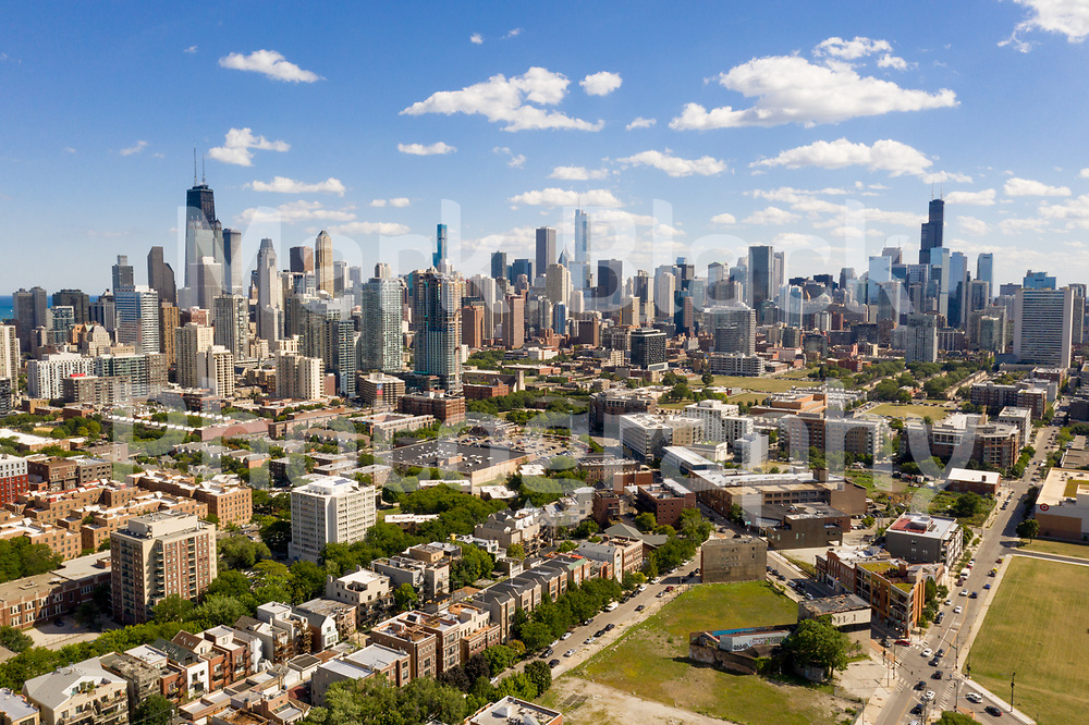 Chicago Skyline view from the north in Chicago on Friday, Sept. 4, 2020. Photo by Mark Black