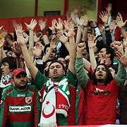 Karsiyakaspor's supporters during their Play Off Second leg match at AliSamiYen Stadium in Istanbul Turkey on Thursday, 20 May 2010. Photo by TURKPIX