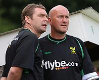 Photo: Maarten Straetemans.<br /> AGOVV Apeldoorn v Norwich City. Pre Season Friendly. 21/07/2007.<br /> Manager Peter Grant (left) with Jim Duffy